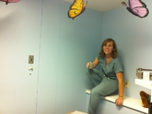 Dr. Alicia Schwark - Before Mural - Children's Medical Exam Room